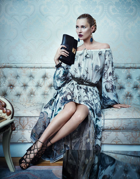 Kate Moss per l'A/I 2012-13 di Salvatore Ferragamo
