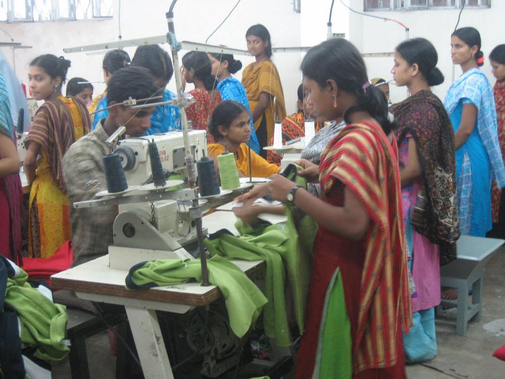 Lavoratrici del settore tessile in India